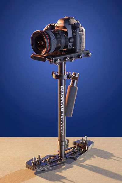 The Glidecam HD-Series can also be used with still cameras that shoot video.
